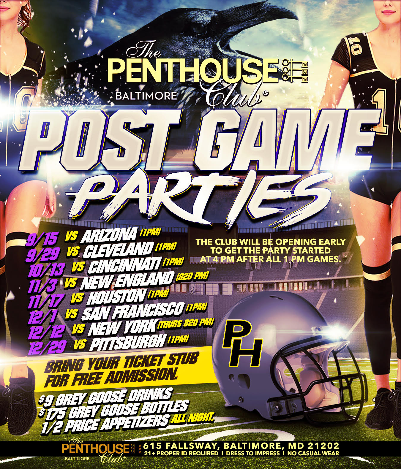 Sexiest Post-Game Party in Baltimore! Penthouse Club Baltimore